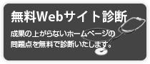 無料ウェブサイト診断:成果の上がらないホームページの 問題点を無料で診断いたします。